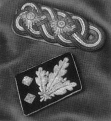 Generálské výložky Wehrmachtu a Zbran�  SS